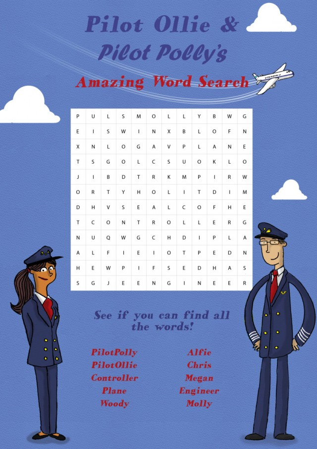 Plane Characters Children's Books WordSearch Game