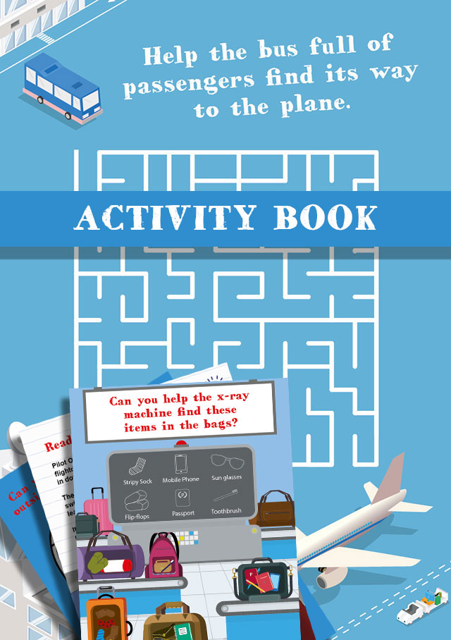 Plane Characters Activity Book